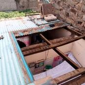 The Roof Was Removed At 1 Pm While Children Were Making Ugali, Angry Tenant Narrates