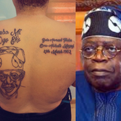 After This Lady Tattooed Bola Tinubu On Her Back, See People's Reactions
