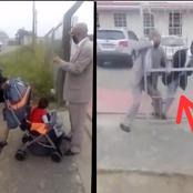 Video: See What A Man Did After An Usher Stopped Him And His Baby From Entering The Church Premises