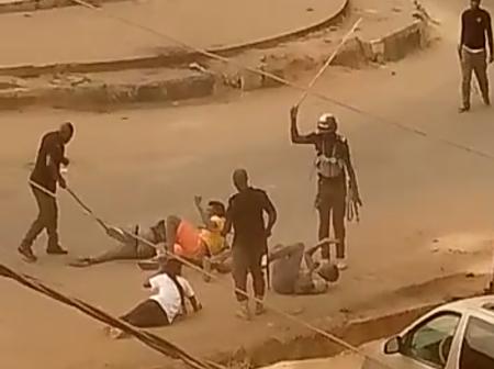 Video of Policemen flogging defenseless Orlu people surfaces