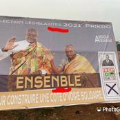 L'affiche de campagne d'un candidat RHDP comportant des fautes d'orthographe suscite des moqueries
