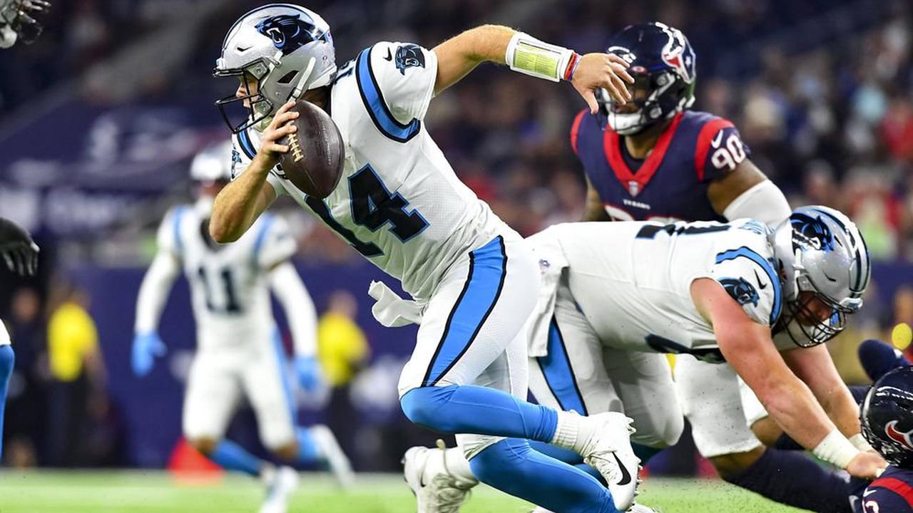 Carolina Panthers feiern gegen die Houston Texans dritten Saisonsieg
