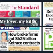 Today's Kenyan Newspapers Headlines