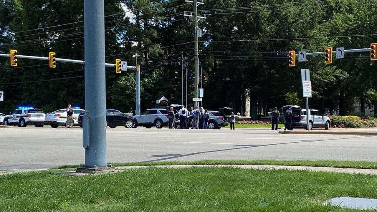 Shoot-out prompts heavy police presence, police searching for suspect