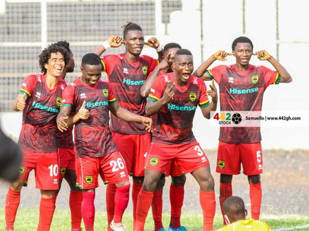 Asante Kotoko On Their Way To Win The Ghana Premier League After Scoring 2 To Top The League