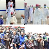 Photos From the Arrival of Senator Kwankwaso in Port Harcourt For the Commissioning of Okoro Flyover