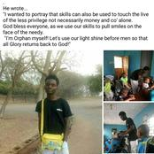 Meet Pius A Nigerian Barber Who Visits An Orphanage Home To Barb Kids For Free (Photos)