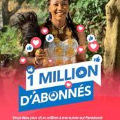 Claire Bahi atteint un million d'abonnés sur Facebook, félicitations à la chantre de l'Éternel