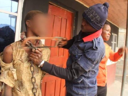 Girl who was chained by her biological mother is set free in Abia