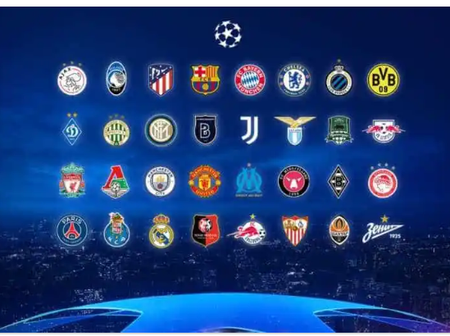 List of clubs that made it to the champions League draws for next season.