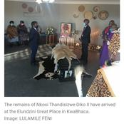 The soil is stolen, King Madzikane Diko ll was buried today: see pictures of his funeral.