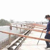 Photos: Gov Emmanuel inspects work at Ikot Oku Ikono Fly Over