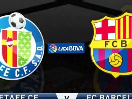 Gatafe v Barcelona: good news for Barcelona FC.