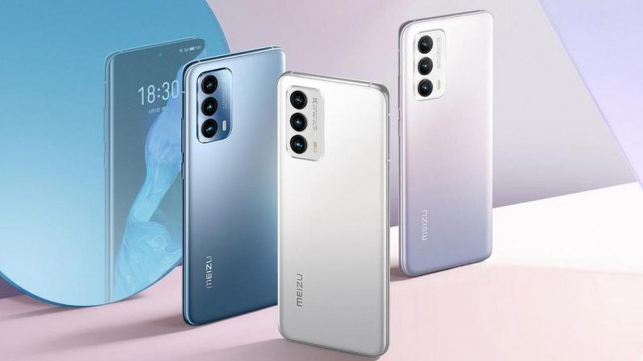 Snapdragon 888 and the official Meizu 18 and 18 Pro with a curved angle of the screen