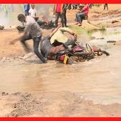 [Video] Drama as Journalists Plunge Into Muddy And Sewer Water In Thika