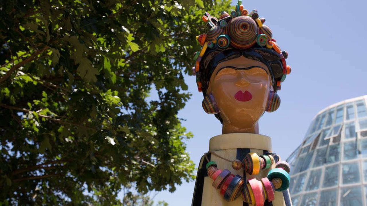 Here's a sneak peek of the Frida Kahlo Oasis at San Antonio Botanical Garden