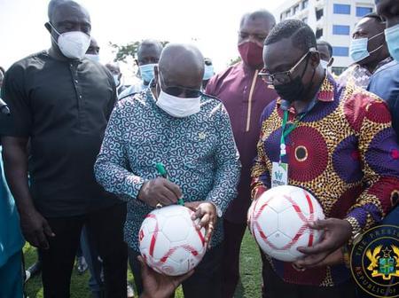 Photos: Nana Addo shows his football skills in recent post