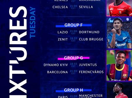 UEFA Champions League Preview: Check out the fixtures for Tuesday and Wednesday matches