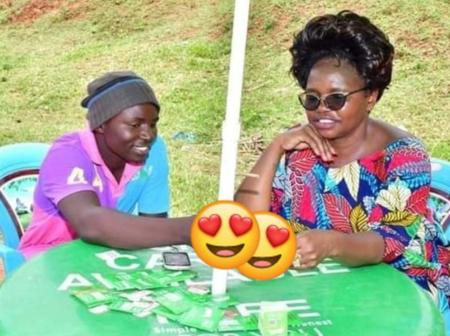 Reactions As Photos Of Vihiga Women Rep Doing This With A Sim Card Vendor Surfaces Online