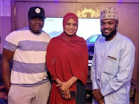 Actor Adam Zango pays a visit to Fati Ladan and her husband [Photos]