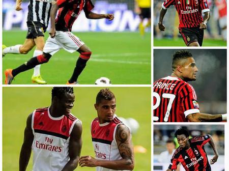 Throwback Photos Of Taye Taiwo, Nnamdi Oduamadi And Prince Boateng At AC Milan