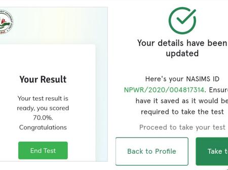 Npower- After updating my profile, I was able to complete the computer base test