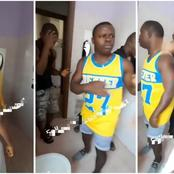 Squatting Man Caught Recording His Friend's Woman, While She Was Bathing