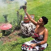 Masechaba slams critics questioning her decision for sharing snaps as she performs rituals