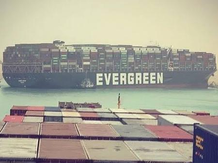 World's Largest Container Ship Stuck in the Suez Canal