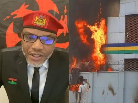 Nnmadi Kanu Reacts With A Bible Verse After Gunmen Razed Another Police Station In Imo State