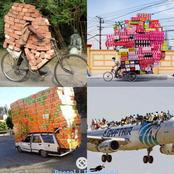 25 Of The Most Overloaded Vehicles Ever That Will Make You Laugh The Rest Of The Day. ( See photos).