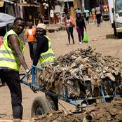 Garbage collector picks new born baby wrapped in a rubbish bag at Magazine-Maakro in Kumasi