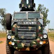 """Reactions as photos of """"Ezugwu"""" the locally built Nigerian armored vehicle emerge online"""