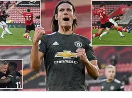 Edinson Cavani Manchester United new Golden striker.