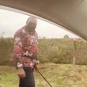 Here is The Lucky Man Who Spotted President Uhuru Kenyatta Walking Alongside The Road