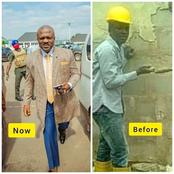 President Of Chinmark Group Shares Photo When He Was A Bricklayer And Now