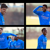 Photos: Arsenal Stars in last training session ahead of Sunday's tie against Leicester City