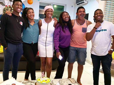 Omotola Jalade Is Celebrating 25th Wedding Anniversary, Checkout Photos Of Her Four Grown-Up Kids