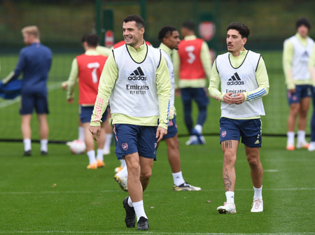 Photos: Check out Arsenal Stars in training ahead of tie against Leicester City on Sunday