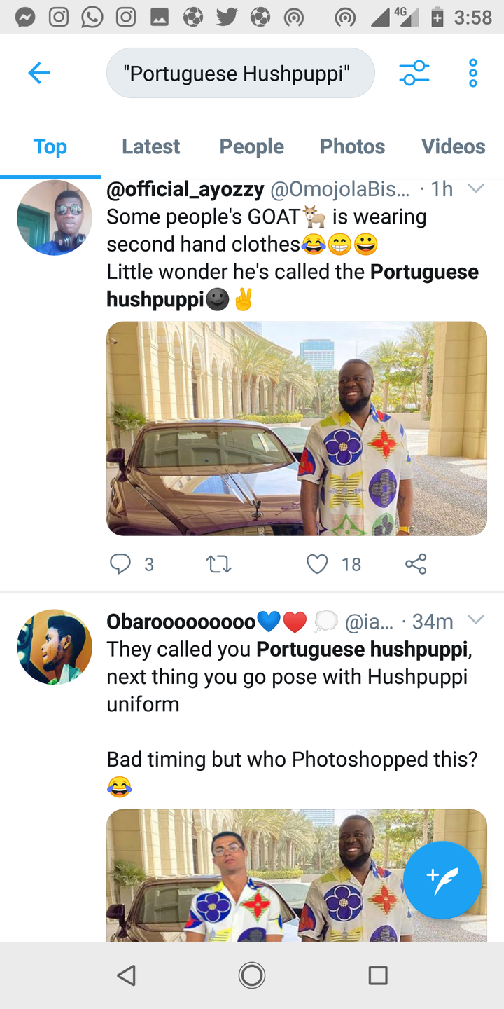 3d9cef05b7e0d9aa20010292f3eff735?quality=uhq&resize=720 - Reactions As Viral Photograph of Ronaldo Rocking Hushpuppi's Costume Noticed On-line
