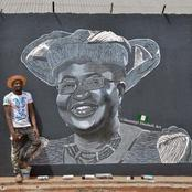 Street Artist Creates Picture Of Okonjo-Iweala To Mark First Day As WTO Boss. (Photos)