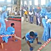 [VIDEO] Moment A Crippled Man Danced With His Wife During Their Child's Dedication Ceremony