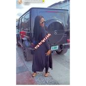 Fans react as Mercy Eke shows off her latest G-wagon car.