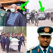 More Photos As Sen Akpabio Was Spotted At The Funeral Of Late Chief Of Air Staff (NAF), Nsikak Eduok
