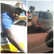 Highway Drama After a Rogue Matatu Driver Terrorizes A Lady Wrecking Her Vehicle Intentionally-Video