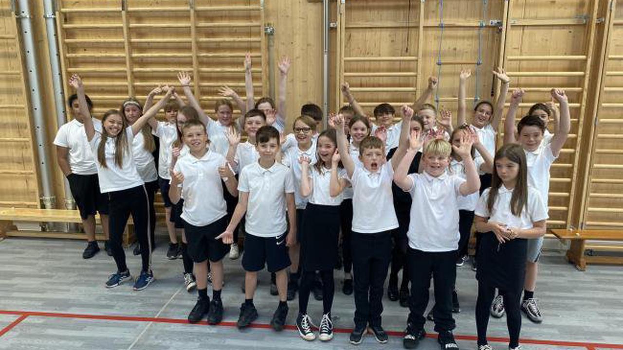 Annick primary pupils enjoy school's new games hall