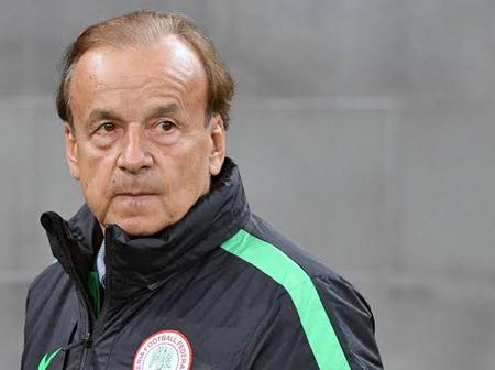 Breaking: For The 2nd Time, Gernot Rohr Qualifies The Super Eagles For AFCON With Two Games In Hand.