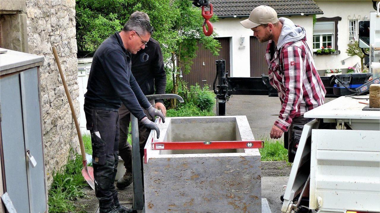 Ortsdurchfahrt Stetten Haigerloch: Beim Feuerwehrhaus plätschert bald wieder ein Brunnen
