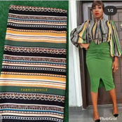 Forget Ankara And Lace, See Another Beautiful Material You Can Use For Decent Short & Long Gowns.