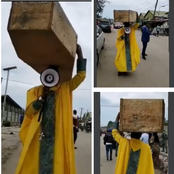A Prophet Was Seen Carrying A Coffin On The Streets, See What He Said About Nigeria Leaders